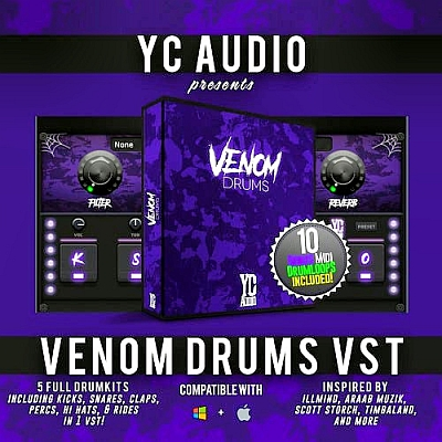 YC Audio - Venom Drums VSTi, VSTi3, AUi WIN.OSX x86 x64 [06.2020]